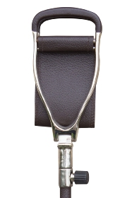 County Wide Leather Seat Stick - Dark Brown