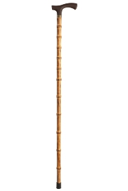 Soft-Touch Crutch Walking Stick with Bamboo Carved Shaft
