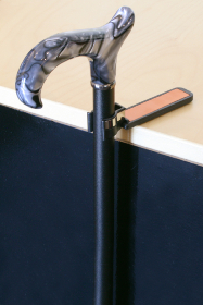 Black Cane Holder with Reflective Strip