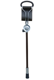 Promenade Dark Brown Leather Seat Stick