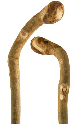 Natural Ash Knob Handled Walking Stick (with extra character)