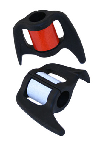 Cane Holder with Reflective Band - Red