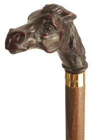 Brown Horse Collectors Cane