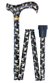 Folding Contemporary Chic Derby Cane - Swallows