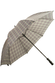 Grey Tartan Walking Stick Umbrella
