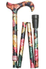 Elite Folding Walking Stick - Multi Floral