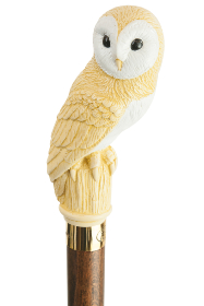 Barn Owl headed Collectors Cane (86cm Length)