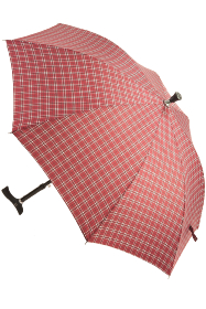 Red Check Walking Stick Umbrella
