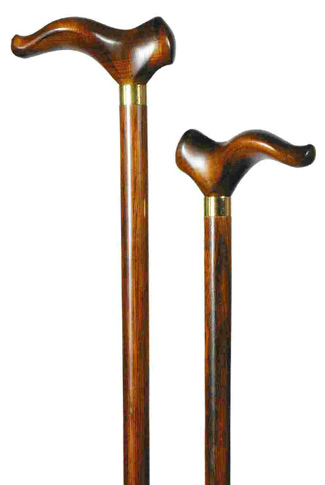 Maple Contour Handle Walking Stick - Right