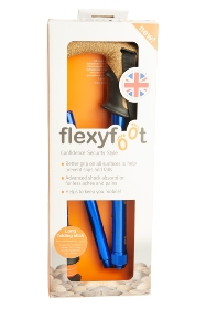 Flexyfoot Folding Stick with Cork Handle - Blue