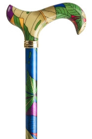 Fashion Derby Adjustable Walking Stick - Tropicana Parrot