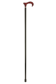Acrylic Derby Moderne Walking Stick - Garnet Marbled