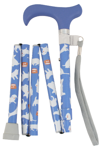 Folding Walking Stick - 5 Sections - Dogs