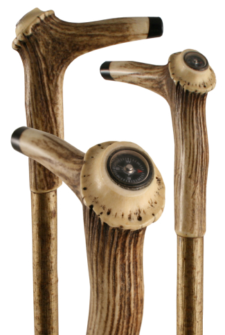 Staghorn Antler Crown on Hazel (Features Integrated Compass)