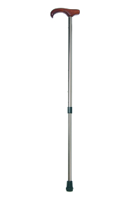 Adjustable Derby Travel Walking Stick with Bronzed Shaft