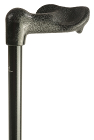 Atlas Extra Strong Fischer Black Adjustable Walking Cane - Left hand