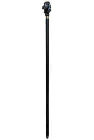 Black Cocker Spaniel Head Walking Stick on Black Shaft Collector Cane