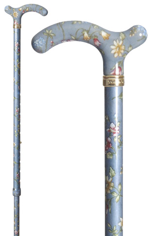 Slimline Adjustable Chelsea Cane - Grey Floral