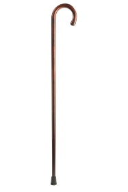 Cherrywood Crook Handled Walking Stick - Flame Scorched
