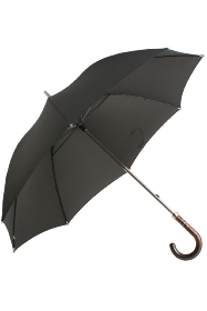 Smoked Acacia Crook Handled Umbrella