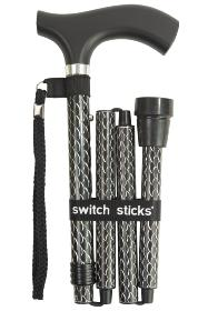 Soiree Folding Walking Stick from Switch Sticks - Black