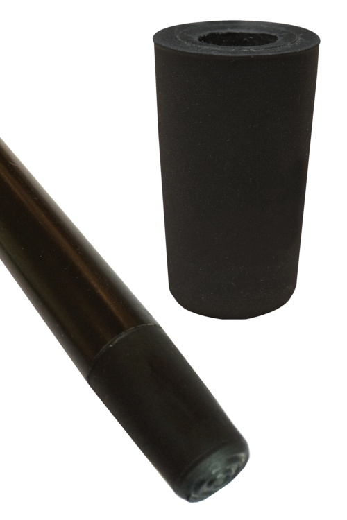 Black Rubber Ferrule for Formal Dress Canes