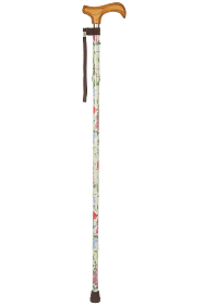Foldable Walking Stick - 5 Sections - Wildflowers