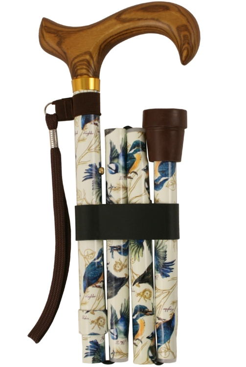 Deluxe Folding Walking Stick - British Birds