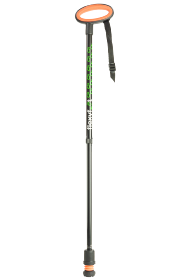 Flexyfoot Adjustable Telescopic Stick with Easygrip Handle - Black