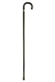 Swarovski Crystal Inlaid Black Crook Walking Stick