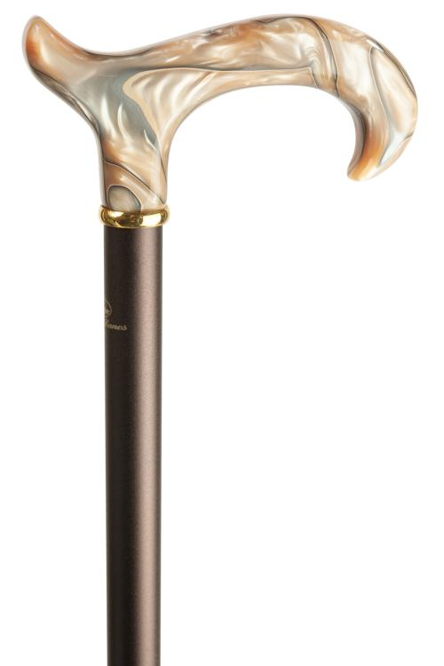 Extending Derby Cane - Marbled Blonde Handle