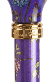 Tea Party Adjustable Walking Stick - Purple Floral