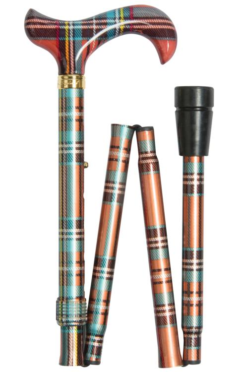 Fashion Folding Stick - Multi Tartan