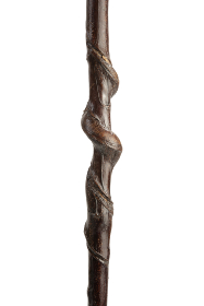 Natural Twisted Chestnut Staghorn Thumbstick (159cm length)