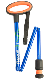 Flexyfoot Folding Stick with Easygrip Handle - Blue