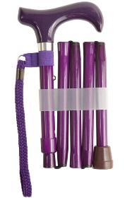 Handbag Folding Stick - Metallic Purple