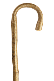 Natural Hazel Crook Walking Stick with Polished Handle (39inches)