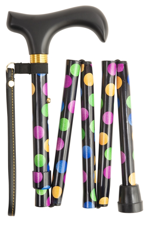 Handbag Folding Stick - Multi Spots