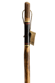 Brazos Leather Safari Exotic Wood Hickory Handcrafted Hiking Stick