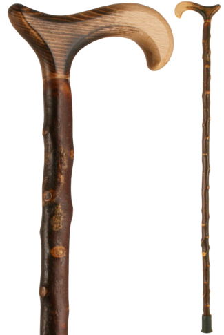 Blackthorn Walking Stick with Scorched Derby Handle