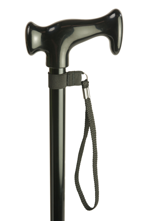 Black Standard Adjustable Walking Stick