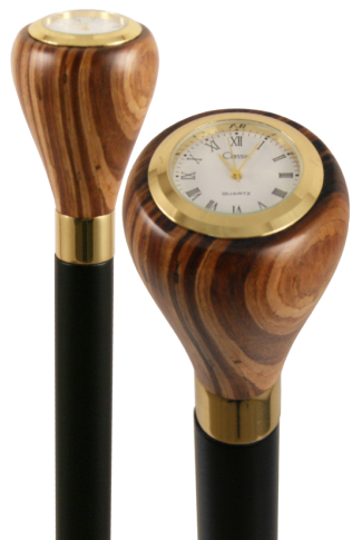 Arts & Crafts Collectors Wooden Watch Top Walking Stick
