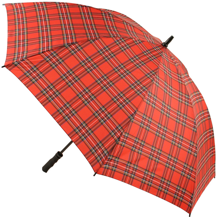 Tartan Golf Umbrella - Red (as Royal Stewart)