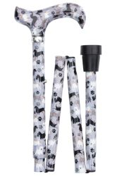 Classic Canes Folding Adjustable Derby Cane - Small Dogs