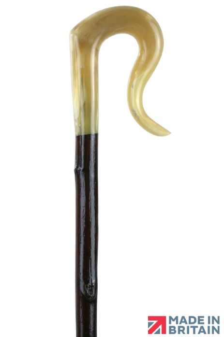 Handmade Ram's Horn Leg Cleek on a Spanish Chestnut Shaft