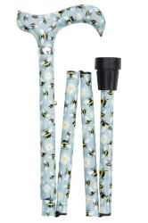 Classic Canes Folding Adjustable Derby Cane - Bees