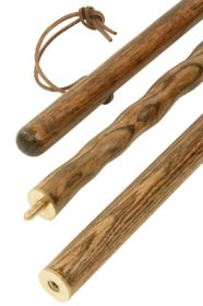 Brazos Three-Section Twisted Oak Traveller Hiking Stick