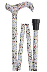 Classic Canes Folding Adjustable Derby Cane - British Songbirds