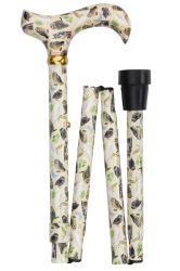 Classic Canes Folding Adjustable Derby Cane - British Owls