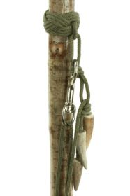 Staghorn Whistle-Handled Wading Stick with detachable Lanyard